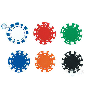 Suited Stripe Poker Chips