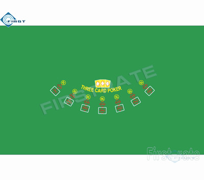 Three Card Layout Poker Table Cloth