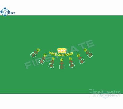 Three Card Layout Poker Table Cloth