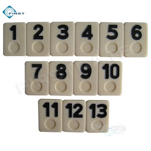 Urea Rummy Set Black Numbers
