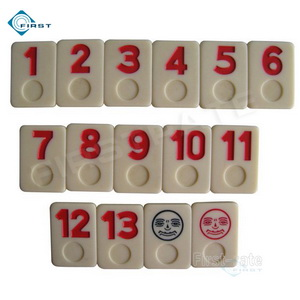 Urea Rummy Set Red Numbers