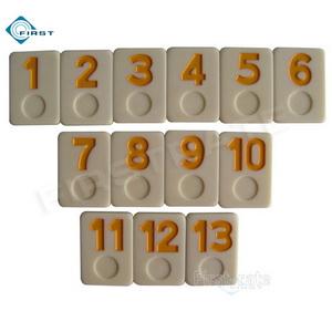 Urea Rummy Set Yellow Numbers