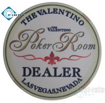Valentino Ceramic Dealer Button