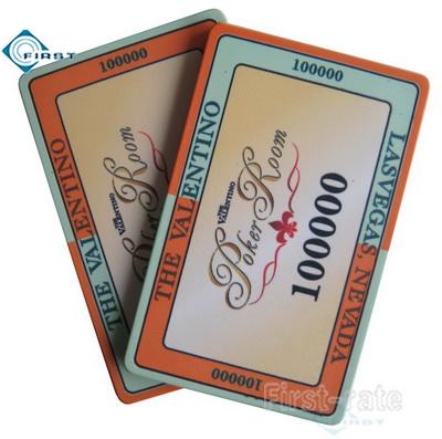 Valentino Poker Room Ceramic Plaque