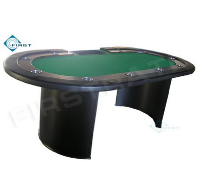 Oval Texas Holdem Poker Table with Tray