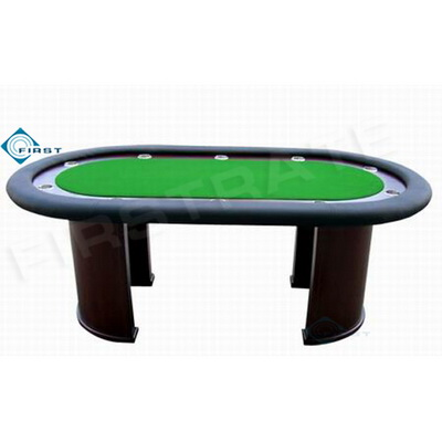 Wooden Poker Table with Cup Holder