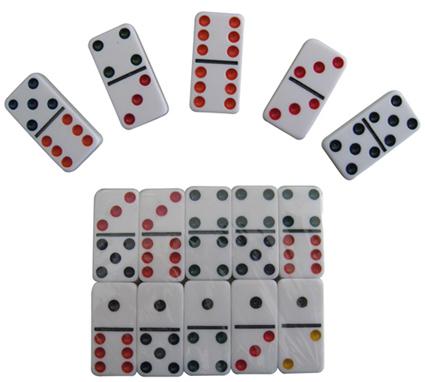 Fichas de domin de pl stico juegos rummy doble 6 fichas for Fichas de domino